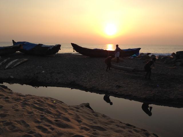 Sunset in India - retreat location